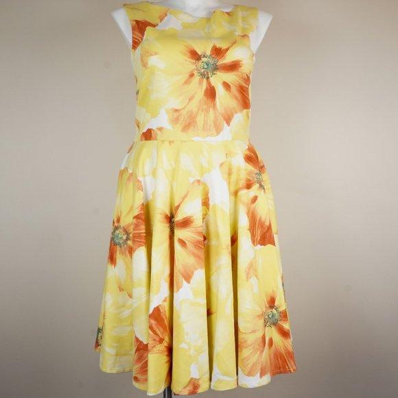 Emily Hallman Dresses & Skirts - Emily Hallman Millie Dress Yellow Orange Floral